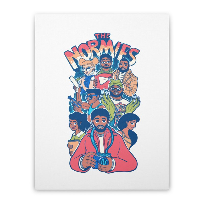 The Normies Crew Home Stretched Canvas by The Normie's Merch Shop