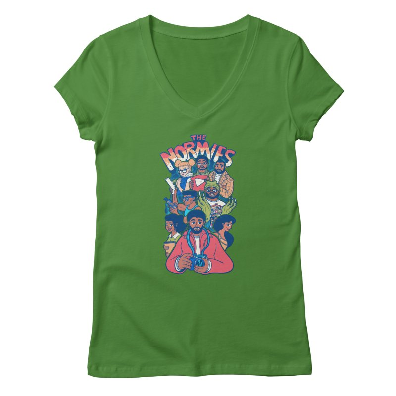 The Crew Crew Women's V-Neck by The Normies' Merch Shop