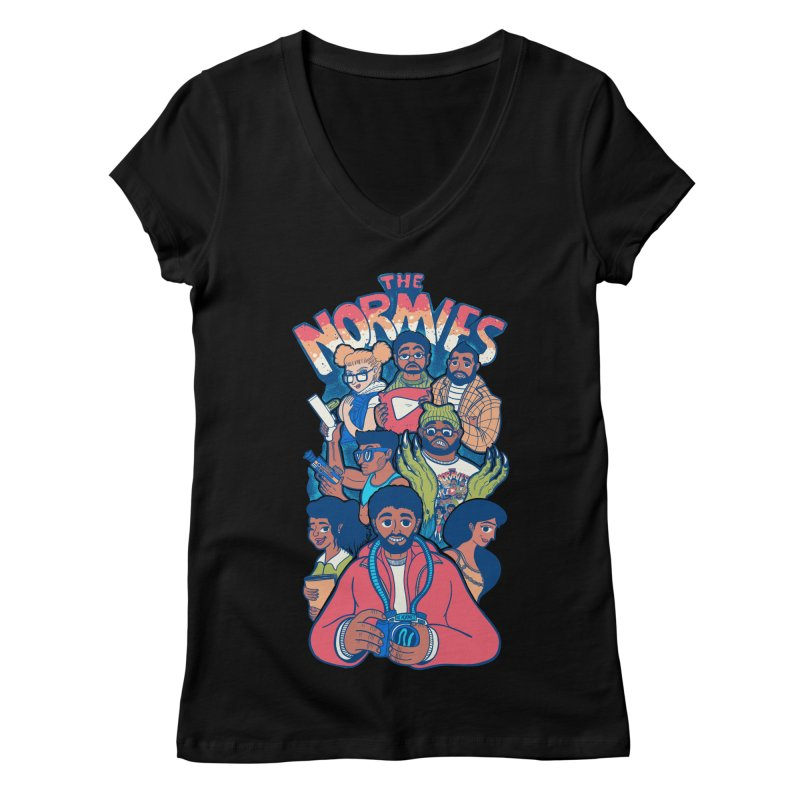 The Normies Crew Women's V-Neck by The Normie's Merch Shop