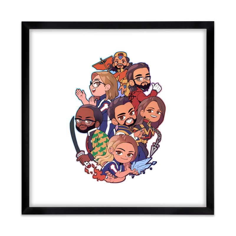 Cosplay Clique Home Framed Fine Art Print by The Normies' Merch Shop
