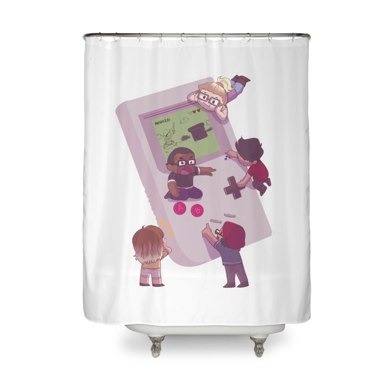 The Normies Gaming Home Shower Curtain by The Normie's Merch Shop
