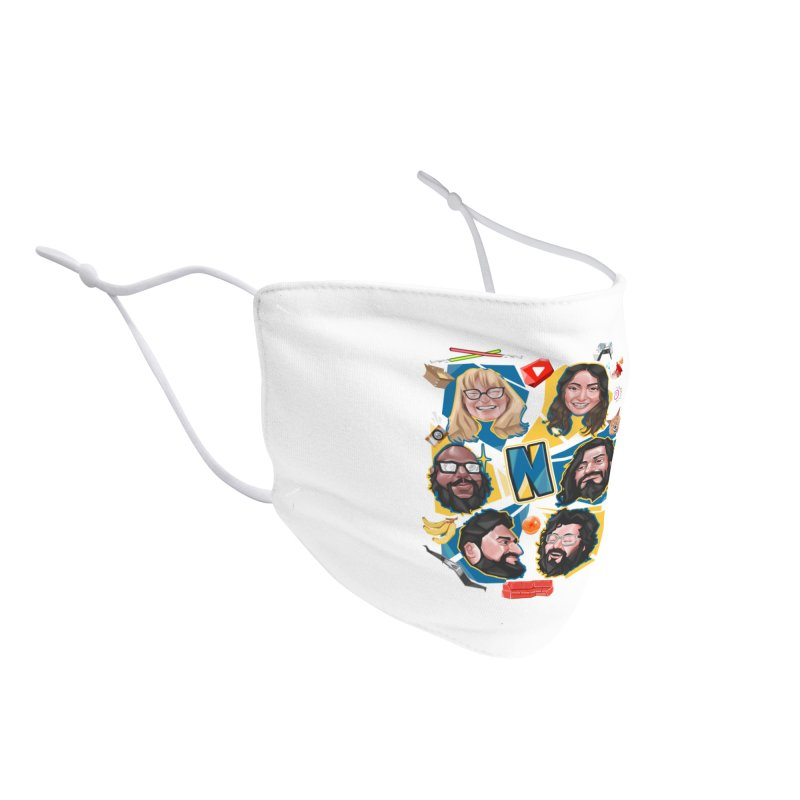 Nerds on a Shirt Accessories Face Mask by The Normies' Merch Shop