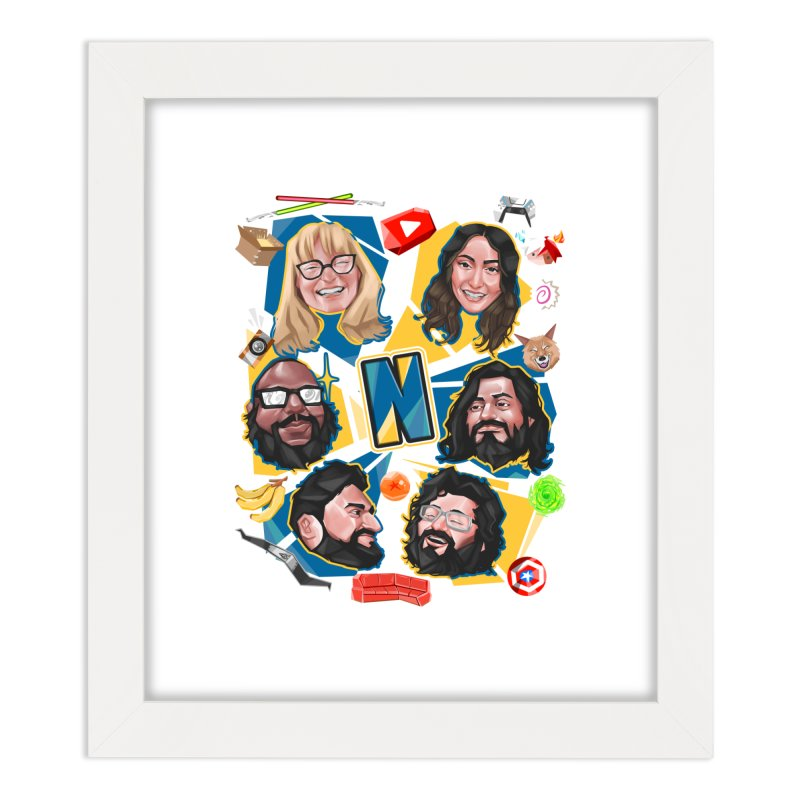 Nerds on a Shirt Home Framed Fine Art Print by The Normies' Merch Shop