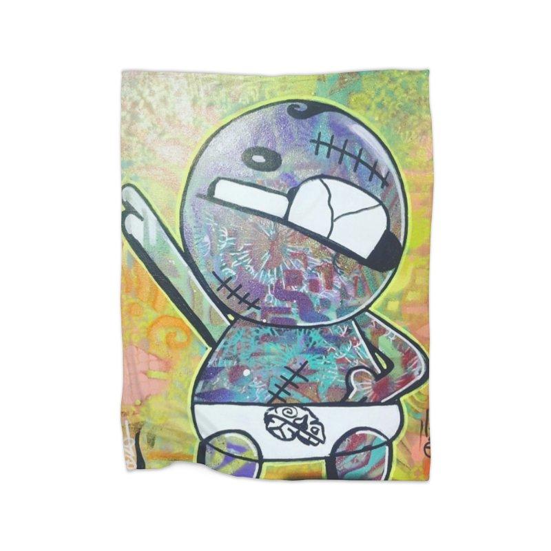 Acid Elvis Home Fleece Blanket Blanket by TheOnskeFace's Artist Shop