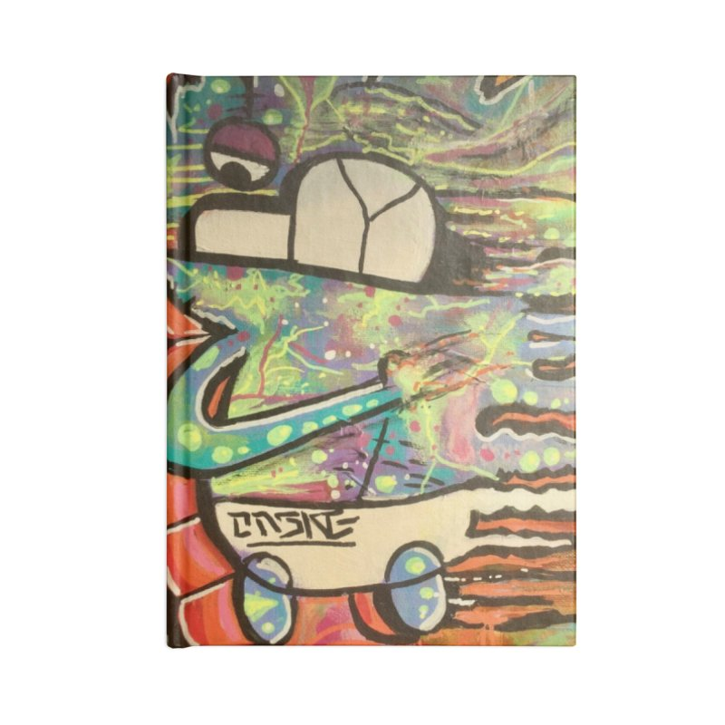 DMT Dreams Accessories Lined Journal Notebook by TheOnskeFace's Artist Shop
