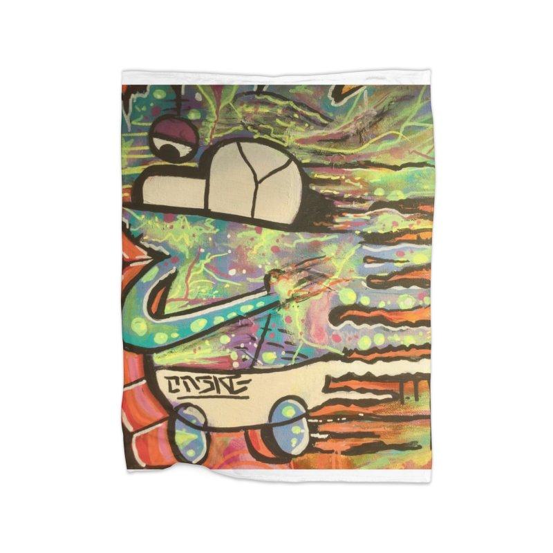 DMT Dreams Home Fleece Blanket Blanket by TheOnskeFace's Artist Shop