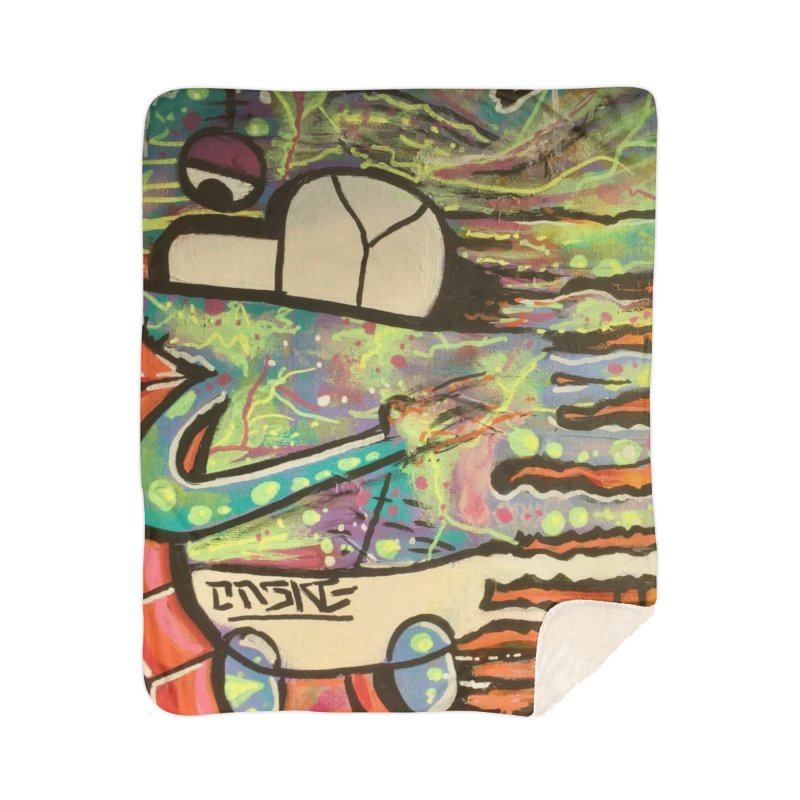 DMT Dreams Home Sherpa Blanket Blanket by TheOnskeFace's Artist Shop