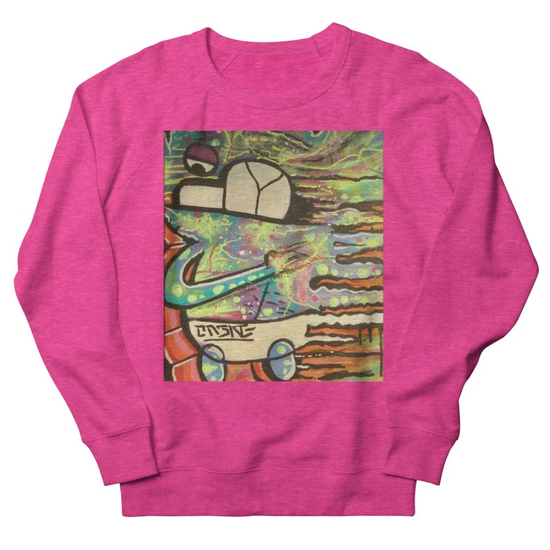 DMT Dreams Women's French Terry Sweatshirt by TheOnskeFace's Artist Shop