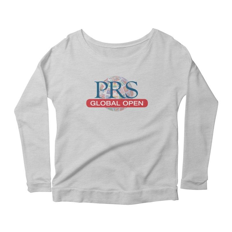 PRS Global Open Logo Women's Longsleeve Scoopneck  by ThePRSJournals's Artist Shop