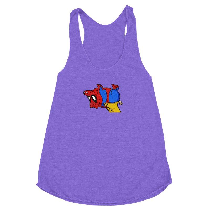 Spider-Pig Women's Racerback Triblend Tank by The Phantom's T-Shirt Shop