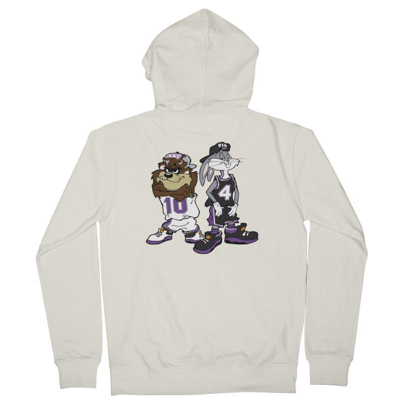 Old School Sac Toons Men's Zip-Up Hoody by The Phantom's T-Shirt Shop