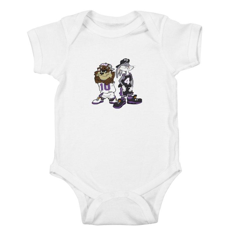 Old School Sac Toons Kids Baby Bodysuit by The Phantom's T-Shirt Shop