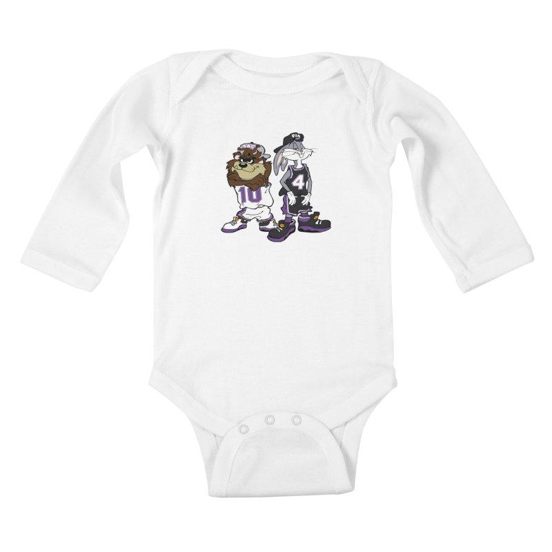 Old School Sac Toons Kids Baby Longsleeve Bodysuit by The Phantom's T-Shirt Shop