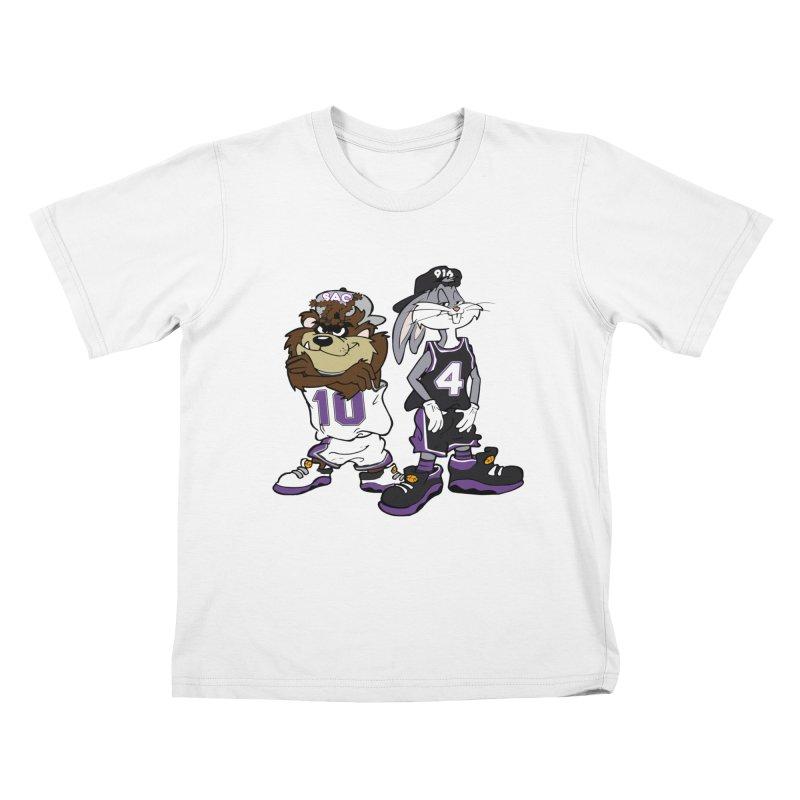 Old School Sac Toons Kids T-Shirt by The Phantom's T-Shirt Shop