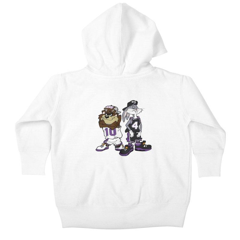 Old School Sac Toons Kids Baby Zip-Up Hoody by The Phantom's T-Shirt Shop