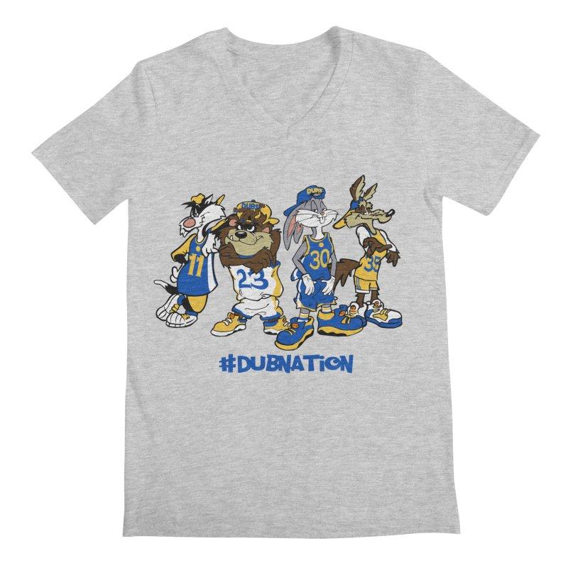 Dub Nation Toon Squad Men's V-Neck by The Phantom's T-Shirt Shop