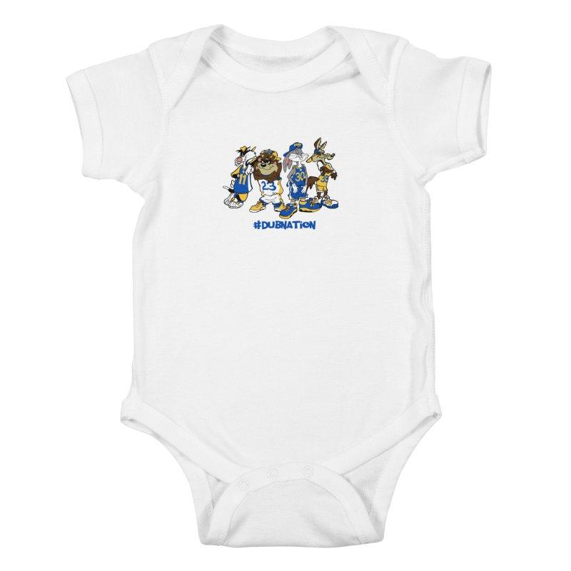 Dub Nation Toon Squad Kids Baby Bodysuit by The Phantom's T-Shirt Shop