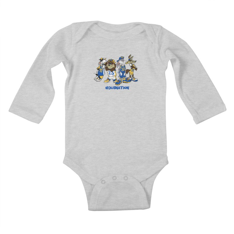 Dub Nation Toon Squad Kids Baby Longsleeve Bodysuit by The Phantom's T-Shirt Shop