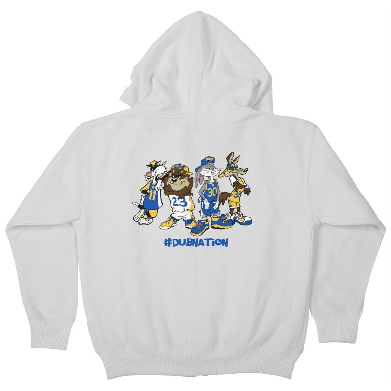 Dub Nation Toon Squad Kids Zip-Up Hoody by The Phantom's T-Shirt Shop