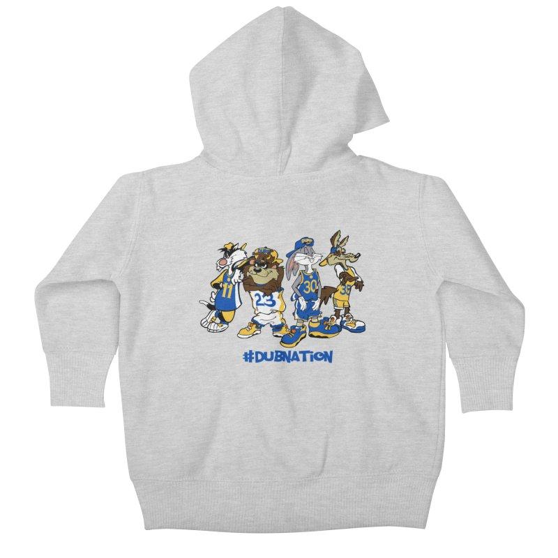Dub Nation Toon Squad Kids Baby Zip-Up Hoody by The Phantom's T-Shirt Shop