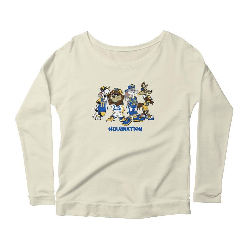 Dub Nation Toon Squad Women's Longsleeve Scoopneck  by The Phantom's T-Shirt Shop