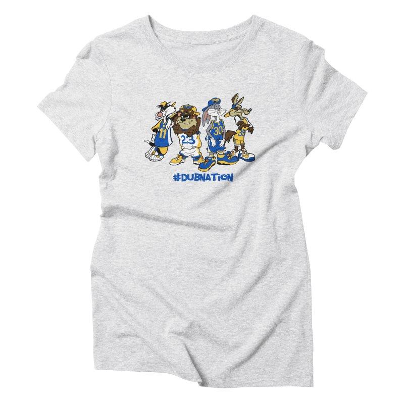 Dub Nation Toon Squad Women's Triblend T-Shirt by The Phantom's T-Shirt Shop