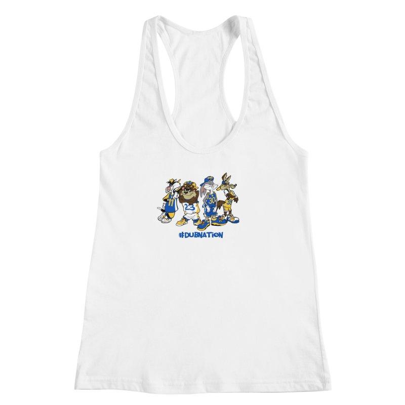 Dub Nation Toon Squad Women's Racerback Tank by The Phantom's T-Shirt Shop