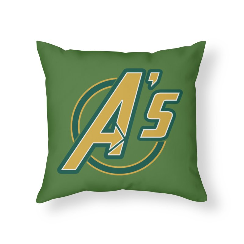 The Earth's Mightiest Team! Home Throw Pillow by Mike Hampton's T-Shirt Shop