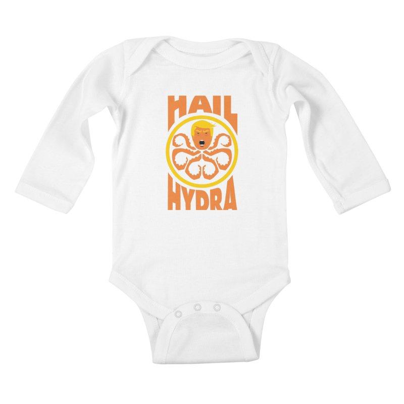 Hail Hydra! Kids Baby Longsleeve Bodysuit by The Phantom's T-Shirt Shop