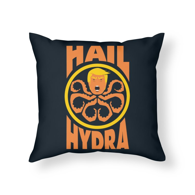Hail Hydra! Home Throw Pillow by The Phantom's T-Shirt Shop
