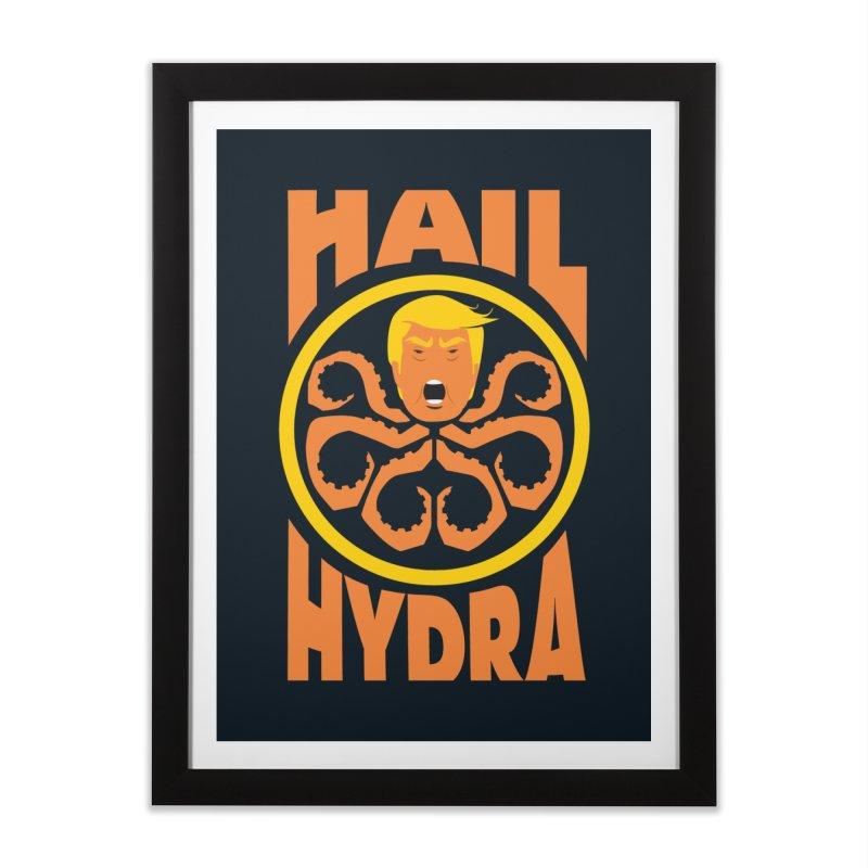 Hail Hydra! Home Framed Fine Art Print by The Phantom's T-Shirt Shop