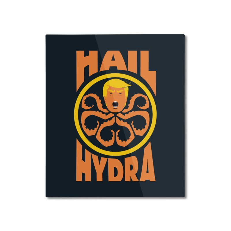 Hail Hydra! Home Mounted Aluminum Print by The Phantom's T-Shirt Shop