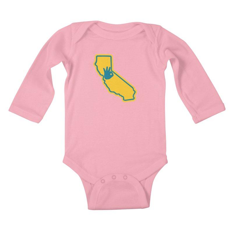 California Dub Love Kids Baby Longsleeve Bodysuit by The Phantom's T-Shirt Shop