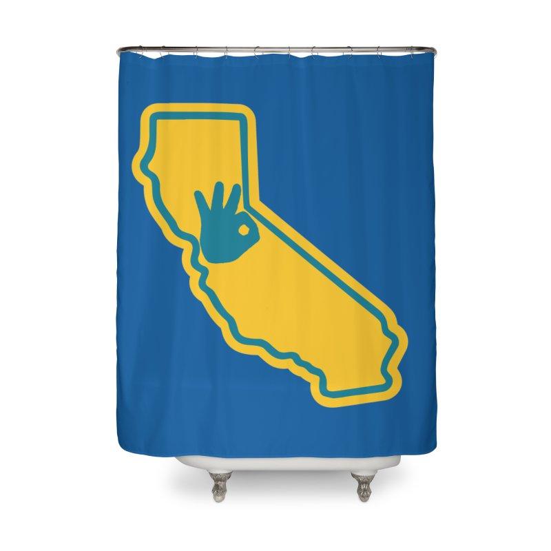 California Dub Love Home Shower Curtain by The Phantom's T-Shirt Shop
