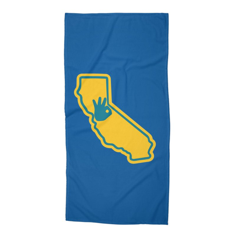 California Dub Love Accessories Beach Towel by The Phantom's T-Shirt Shop