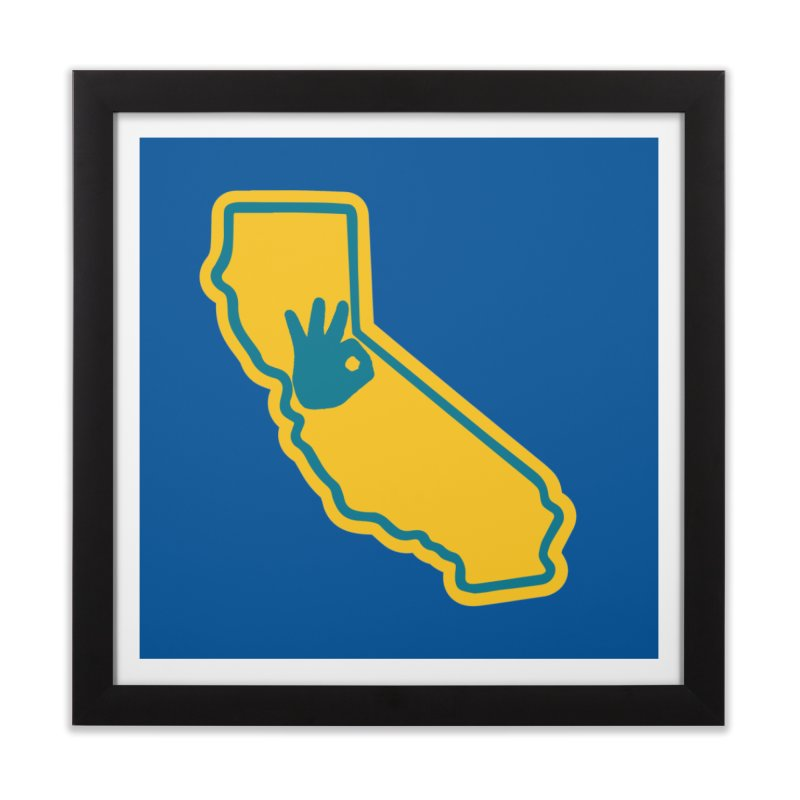 California Dub Love Home Framed Fine Art Print by The Phantom's T-Shirt Shop