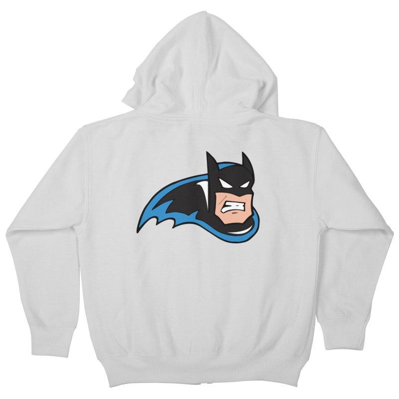 Batman, like a Panther Kids Zip-Up Hoody by The Phantom's T-Shirt Shop