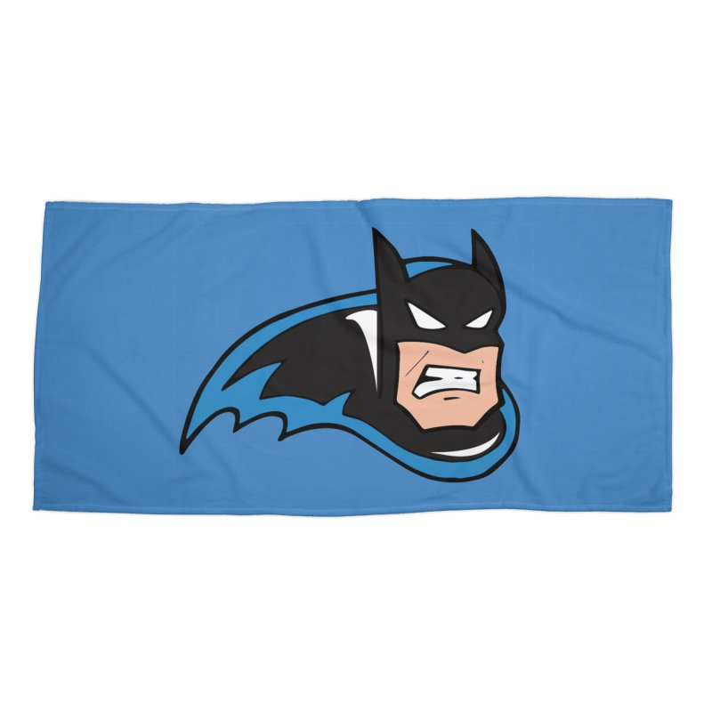 Batman, like a Panther Accessories Beach Towel by The Phantom's T-Shirt Shop