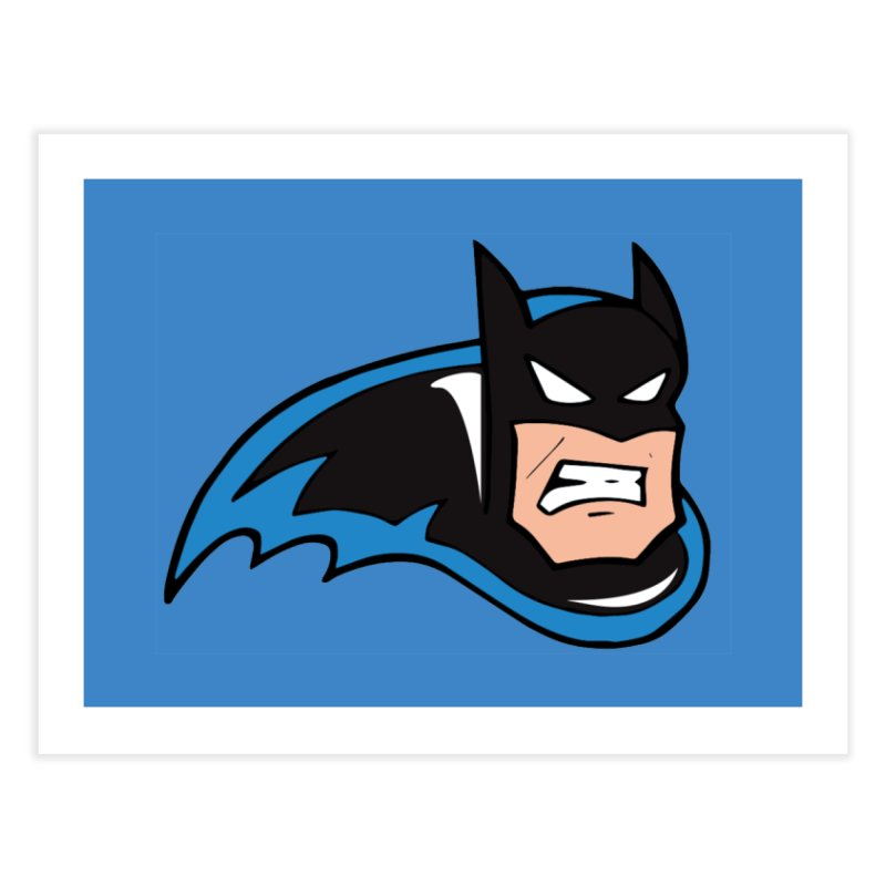 Batman, like a Panther Home Fine Art Print by The Phantom's T-Shirt Shop