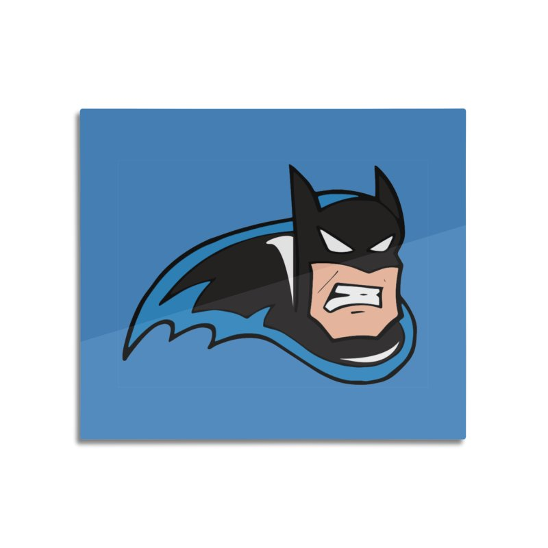 Batman, like a Panther Home Mounted Aluminum Print by The Phantom's T-Shirt Shop