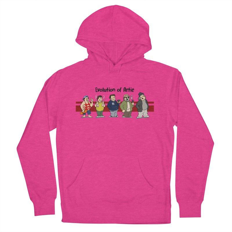 Evolution of Artie Lange Women's Pullover Hoody by The Phantom's T-Shirt Shop