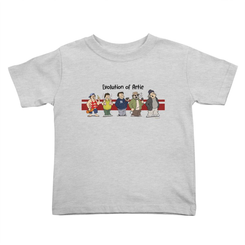 Evolution of Artie Lange Kids Toddler T-Shirt by Mike Hampton's T-Shirt Shop