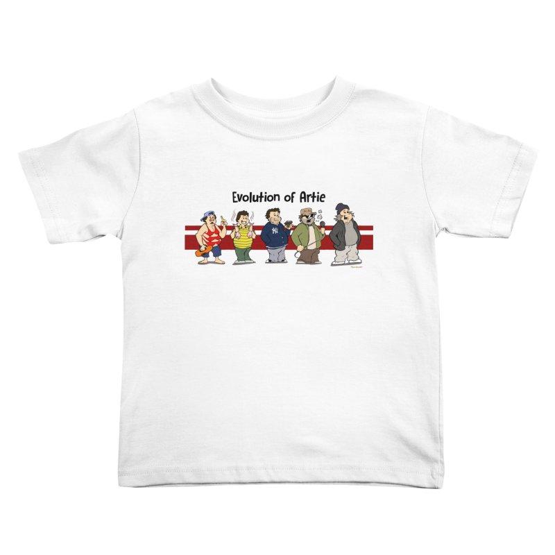 Evolution of Artie Lange Kids Toddler T-Shirt by The Phantom's T-Shirt Shop