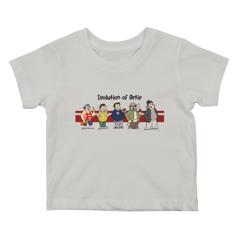 Evolution of Artie Lange Kids Baby T-Shirt by Mike Hampton's T-Shirt Shop