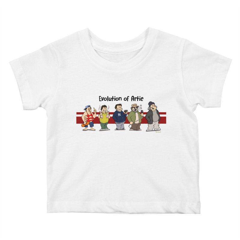 Evolution of Artie Lange Kids Baby T-Shirt by The Phantom's T-Shirt Shop