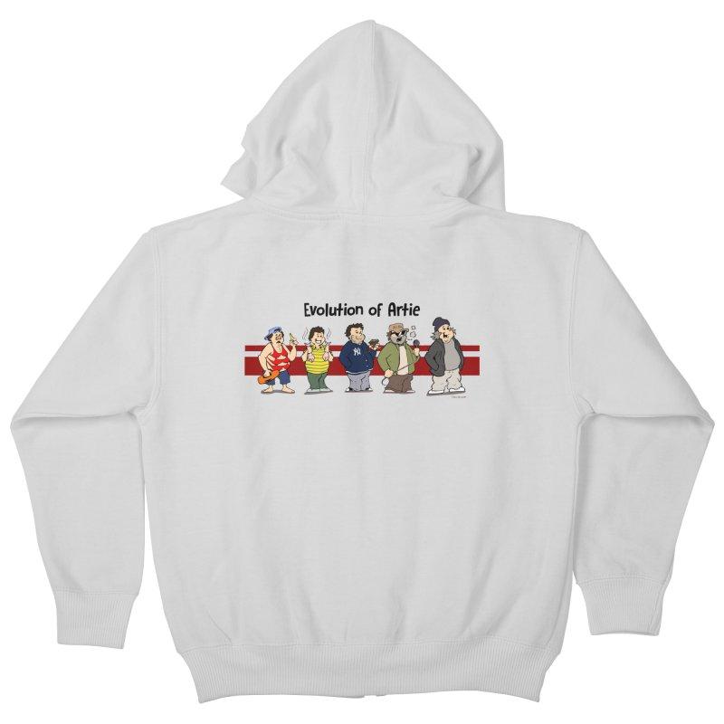 Evolution of Artie Lange Kids Zip-Up Hoody by The Phantom's T-Shirt Shop