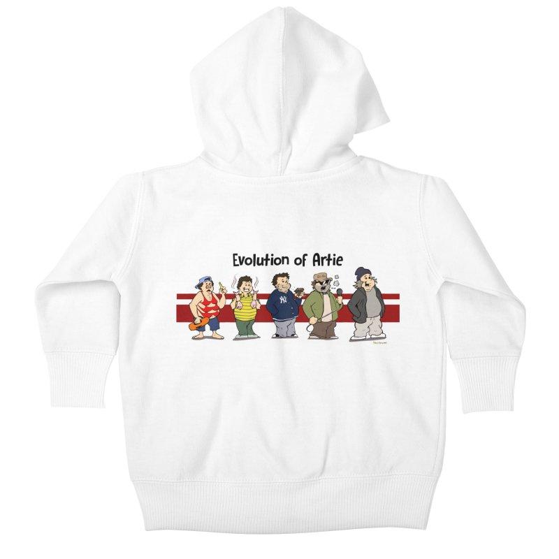Evolution of Artie Lange Kids Baby Zip-Up Hoody by The Phantom's T-Shirt Shop