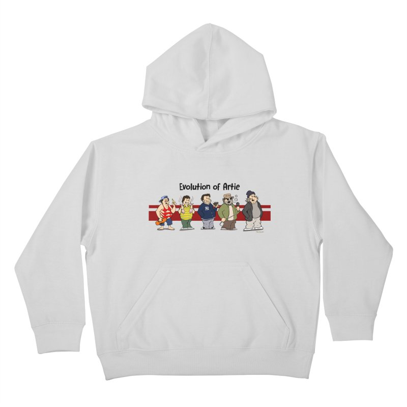 Evolution of Artie Lange Kids Pullover Hoody by Mike Hampton's T-Shirt Shop