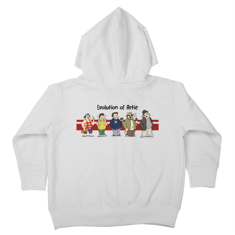 Evolution of Artie Lange Kids Toddler Zip-Up Hoody by Mike Hampton's T-Shirt Shop