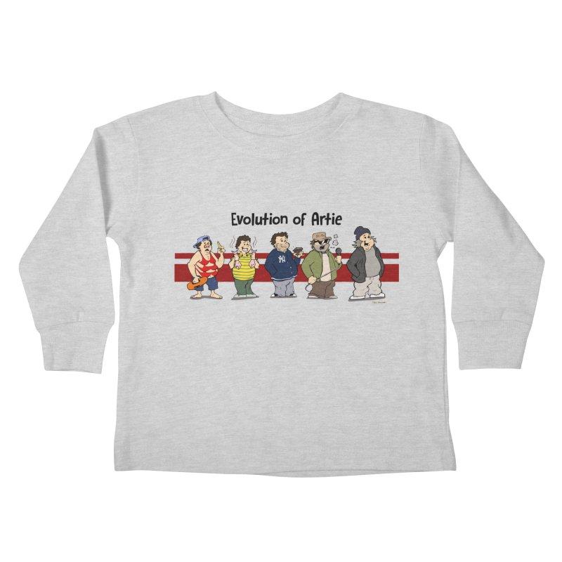Evolution of Artie Lange Kids Toddler Longsleeve T-Shirt by Mike Hampton's T-Shirt Shop